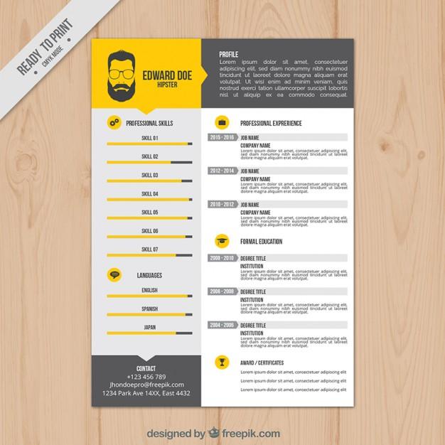 Resume Format Vector
