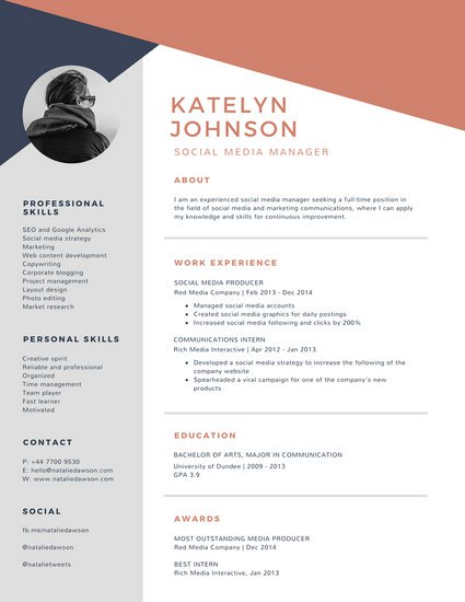 Cv Template Canva