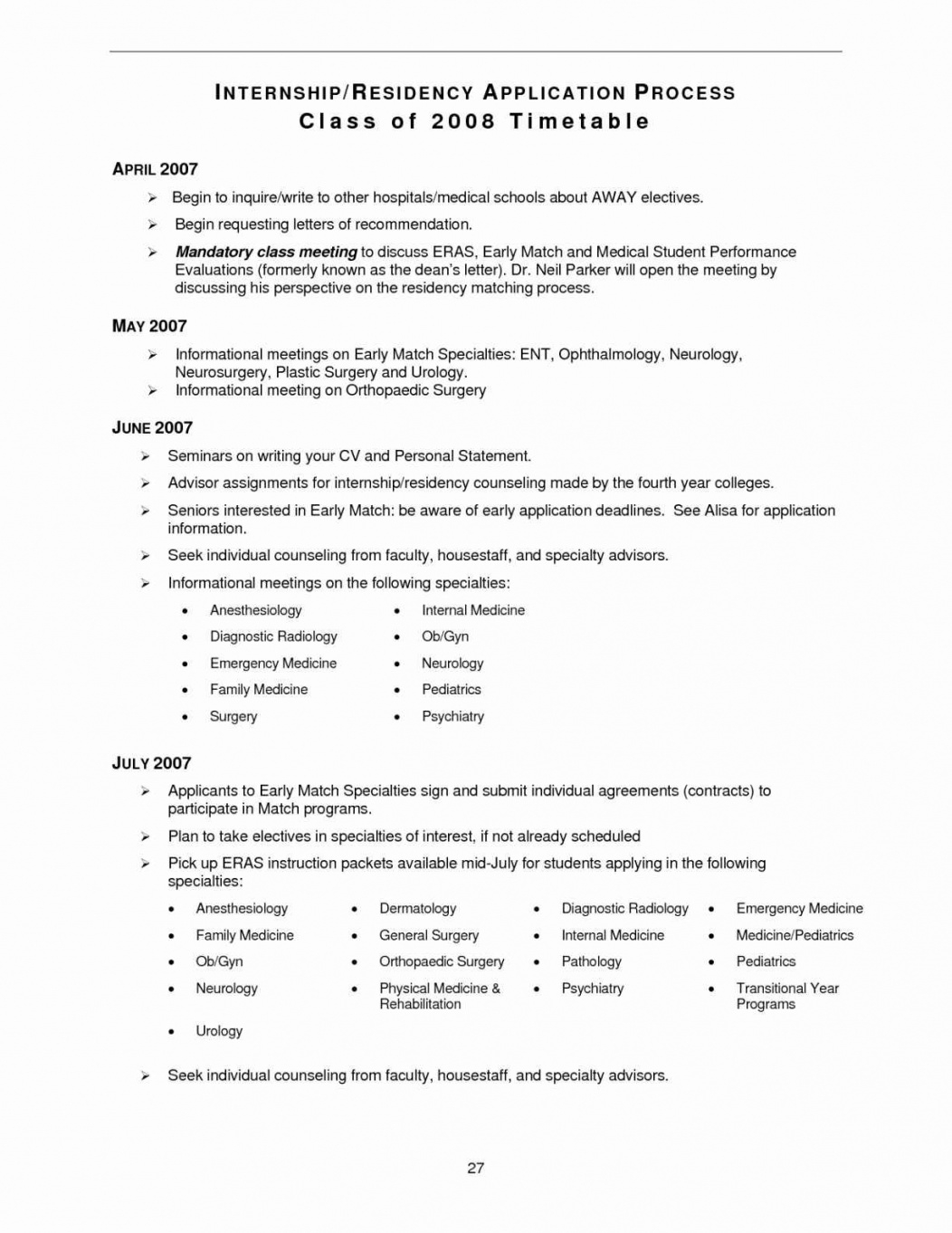 Cv Template Medical School