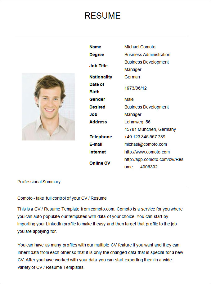 Job Application Simple Resume Format Doc Best Resume Examples