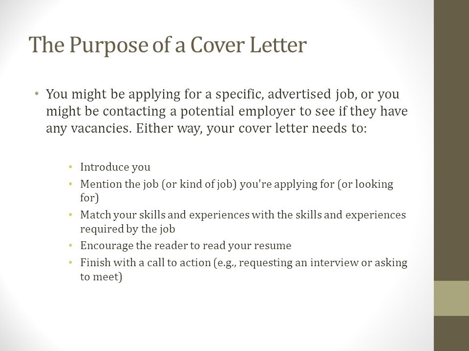 Cover Letter Template Youth Central
