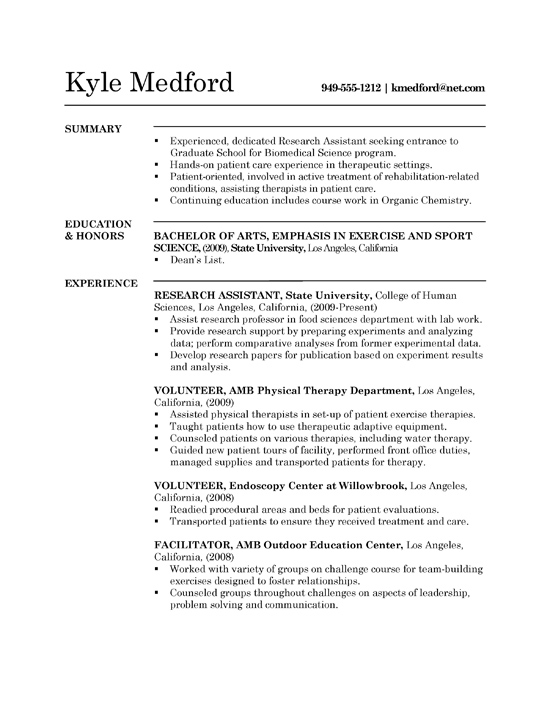 Cv Template Research