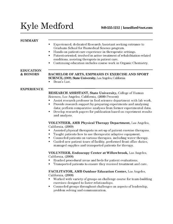 Cv Template Research
