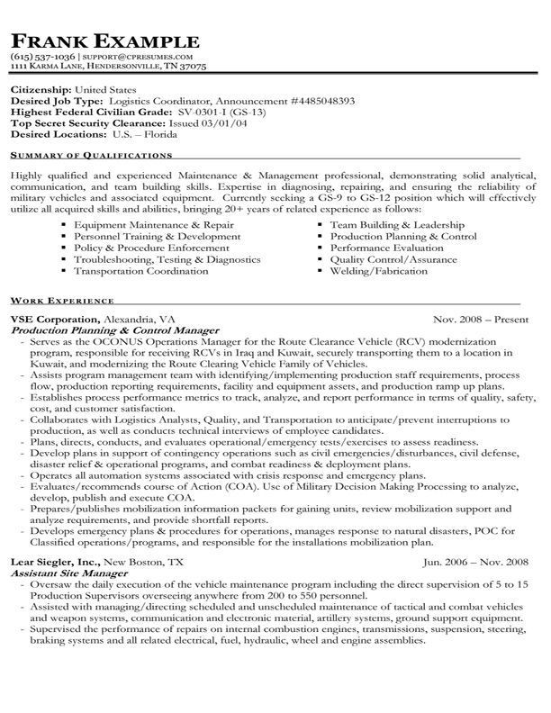 Resume Format Usa Jobs