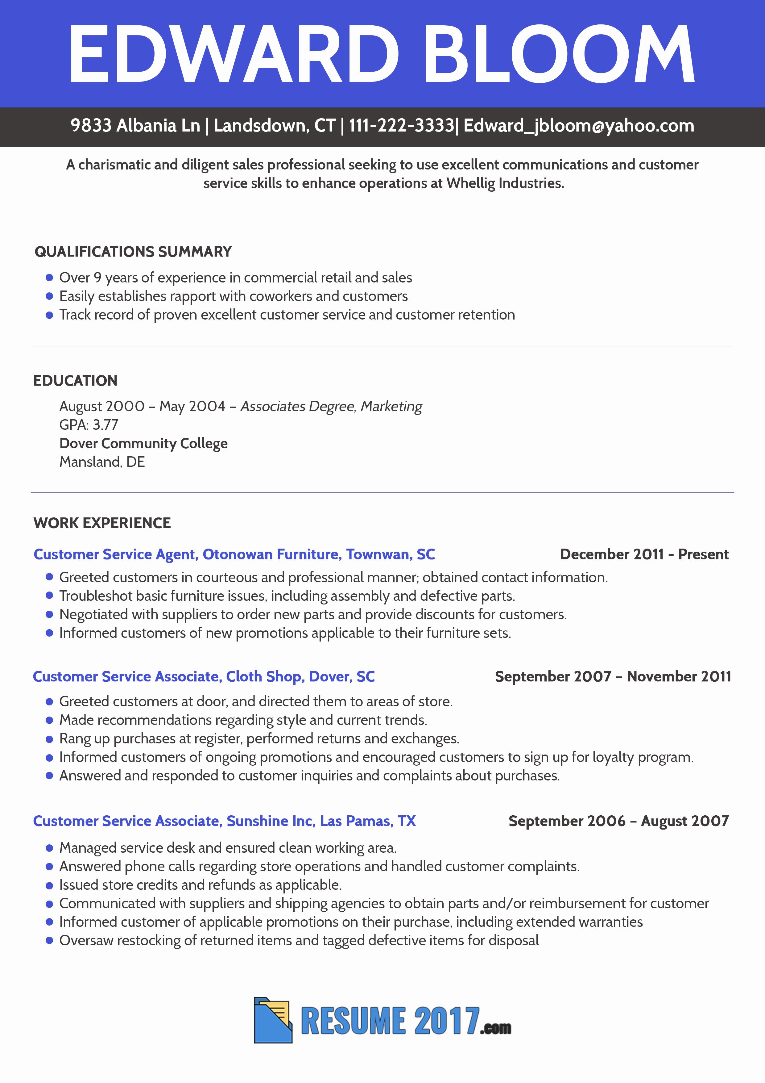 Resume Format Trends 2018