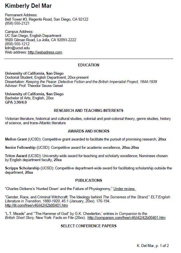 Resume Format Undergraduate