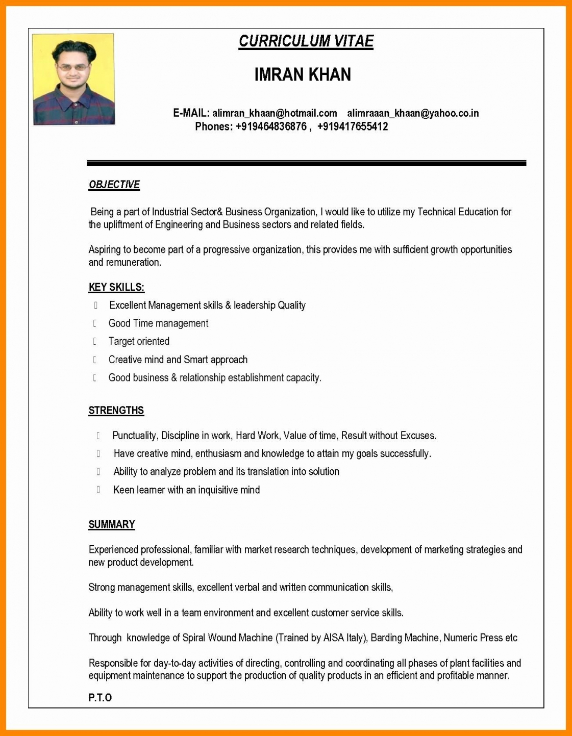 Resume Format New