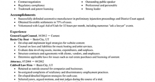 Resume Format Lawyer