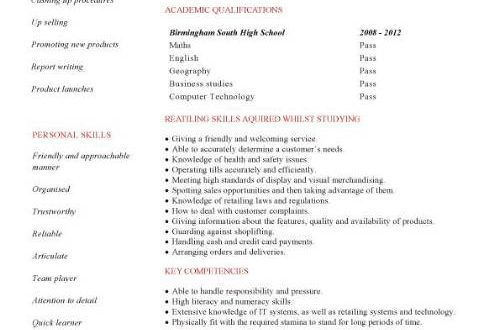 A Cv Template For A Student