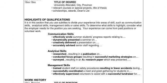 Resume Format Skills