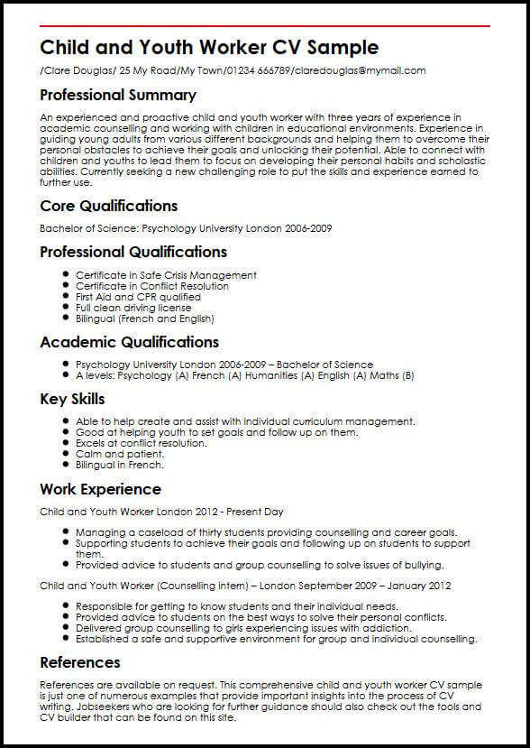 Cv Template Youth Central