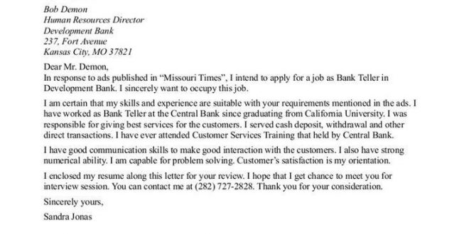 Cover Letter Template Joinery - Resume Format
