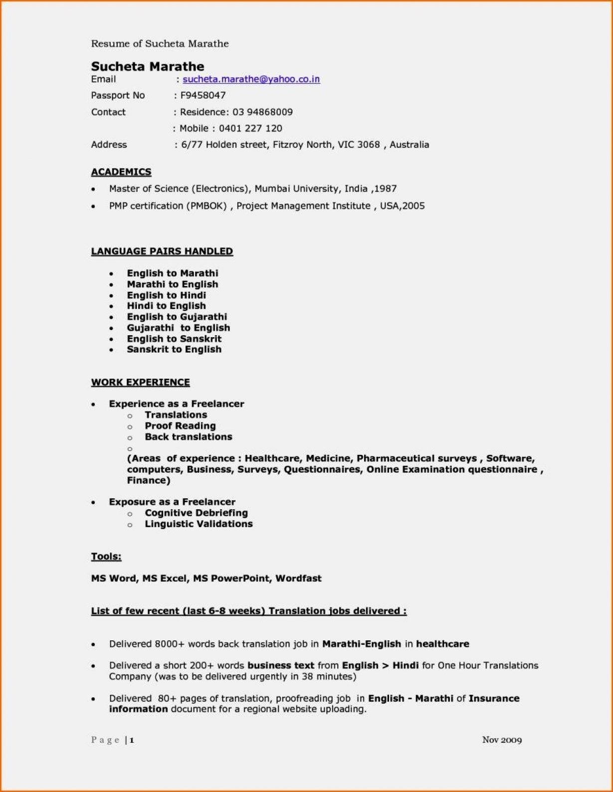 A Cv Template For A 16 Year Old