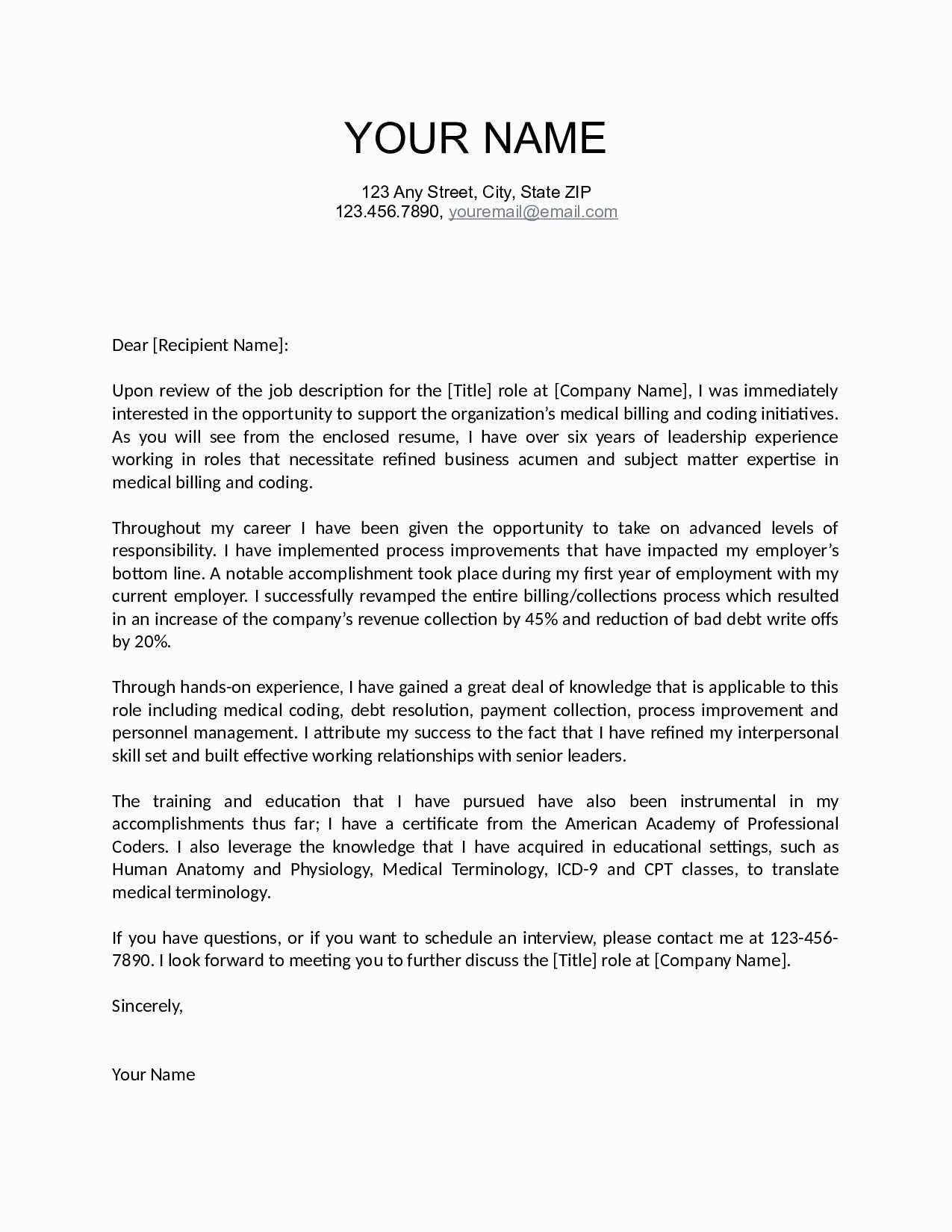 U Of T Cover Letter Template
