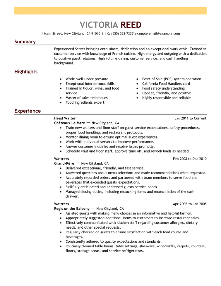 Resume Format 2018 Template