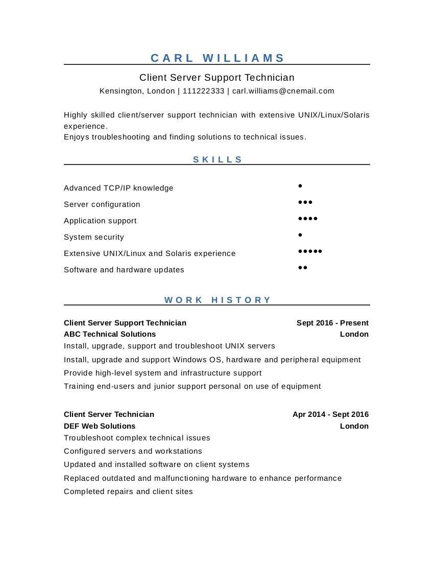 cv template uk