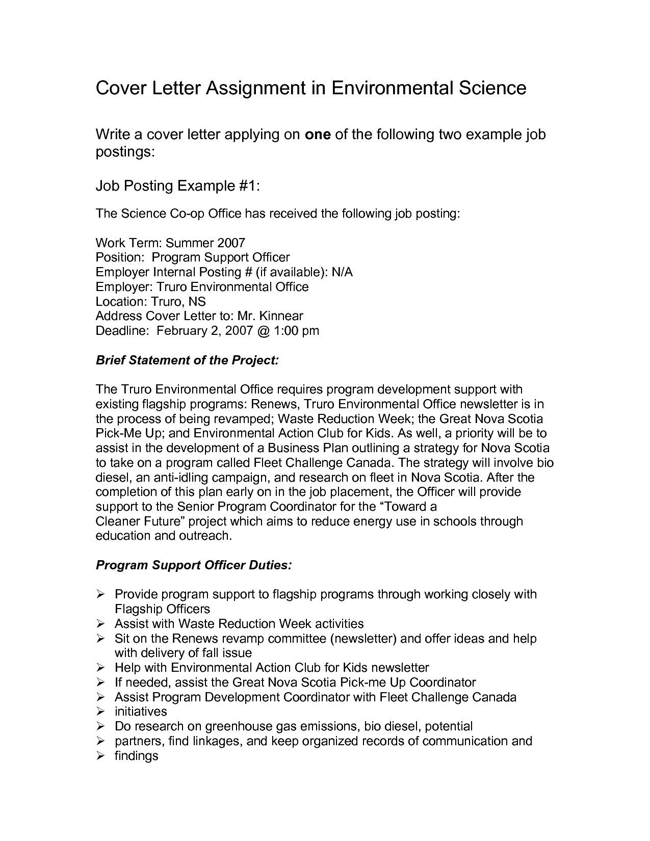 Cover Letter Template For Internal Position