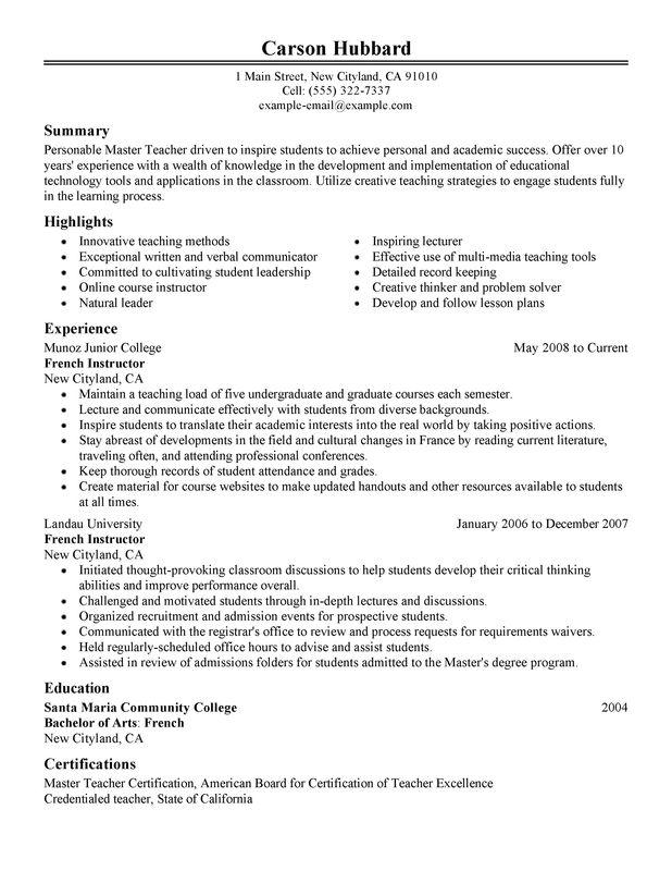 P G Resume Format