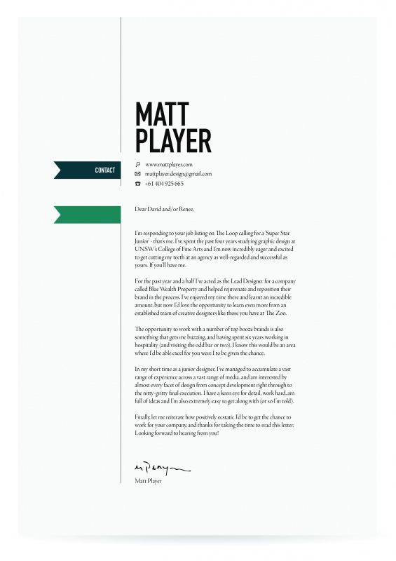 Cover Letter Template Ideas