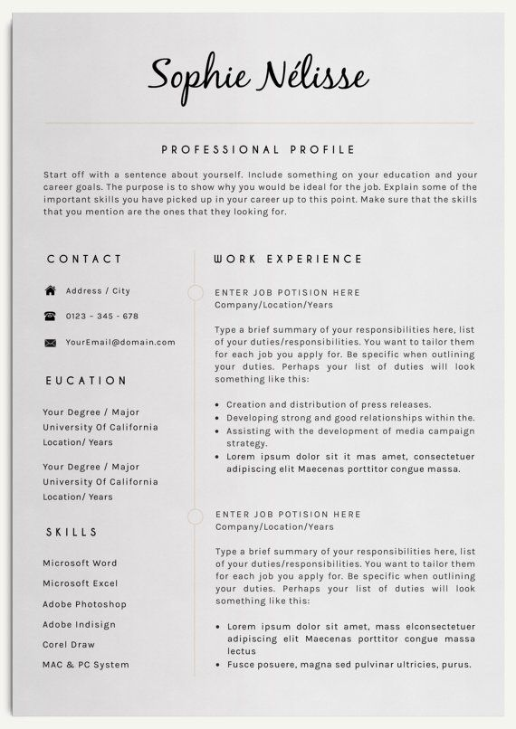 Cv Template For Over 40