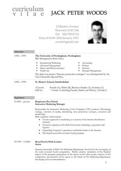 Resume Format Germany