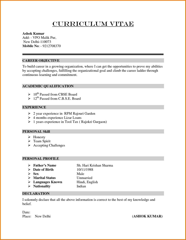 Format Resume Kerja Kerajaan
