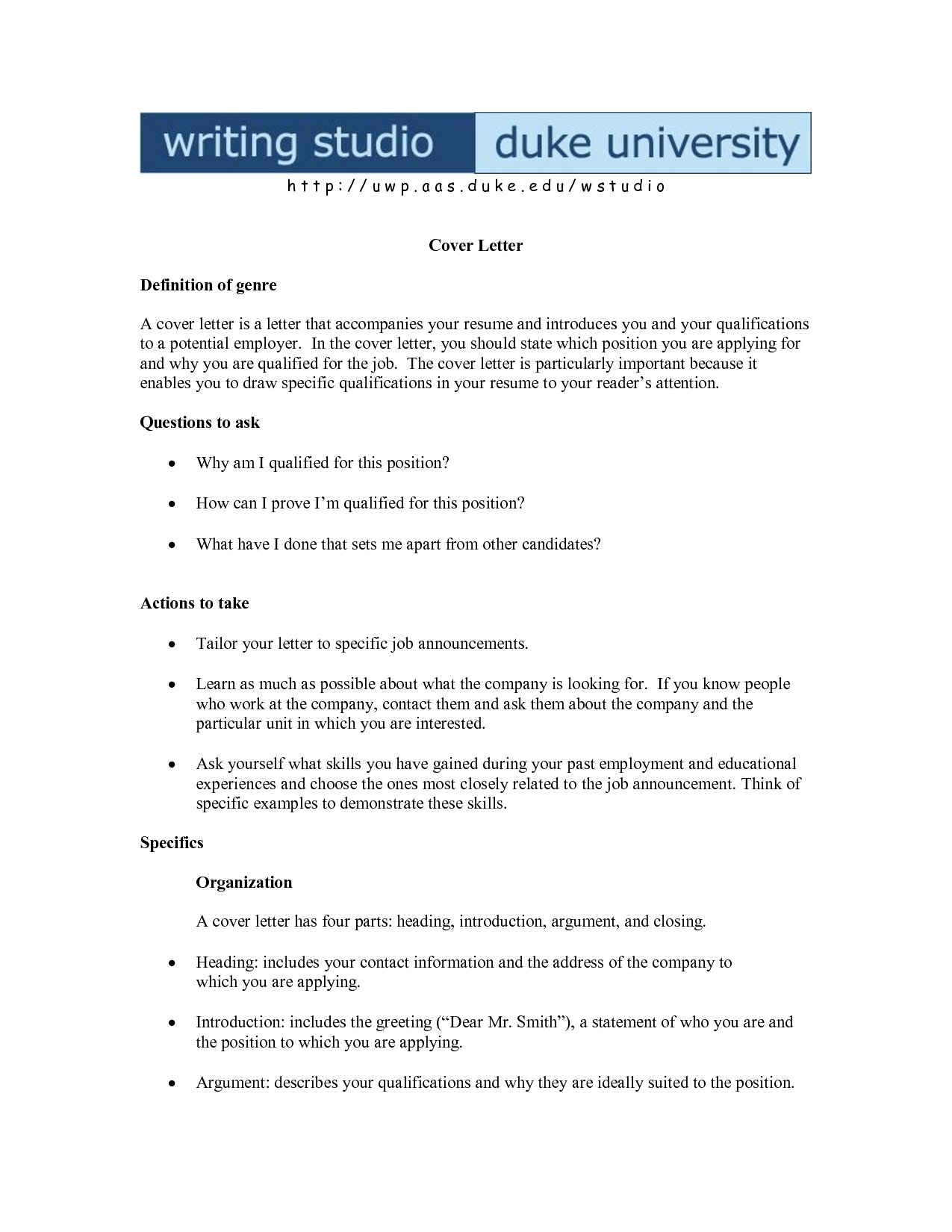Cover Letter Template Pages