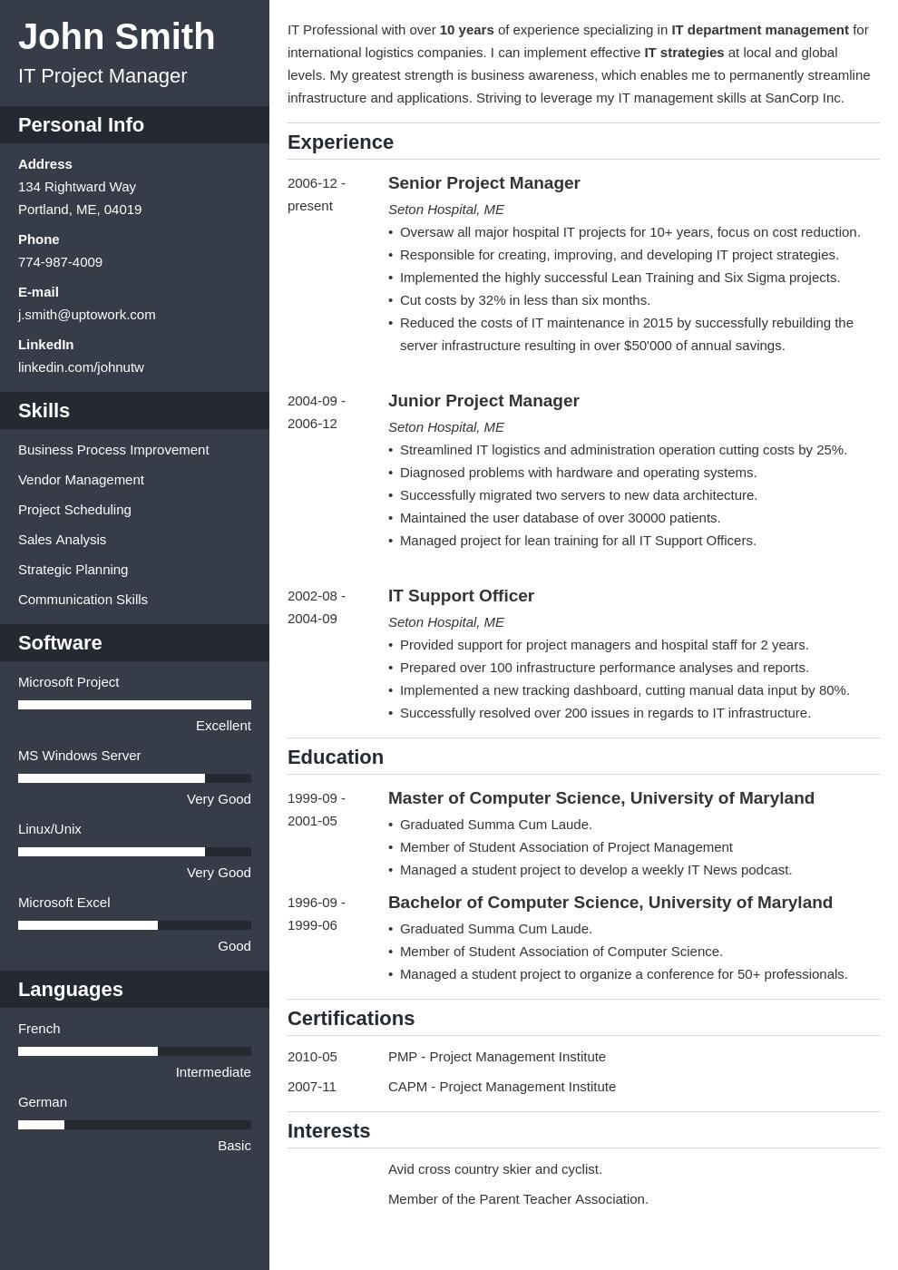 Cv Template Online