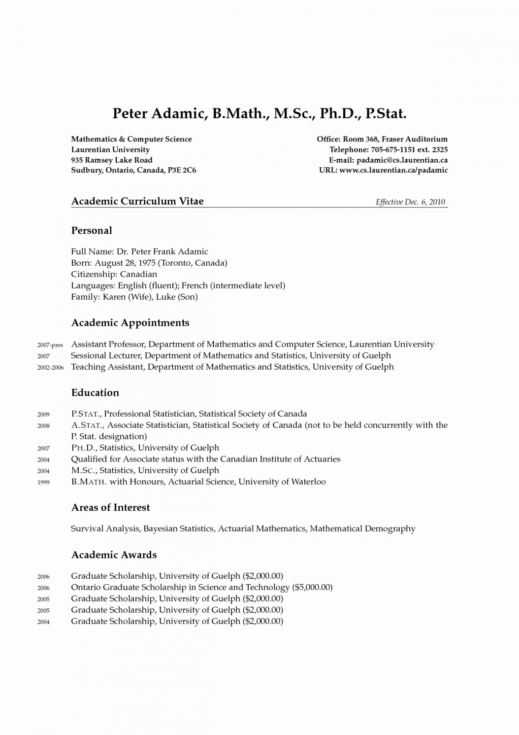 Cv Template Latex Phd