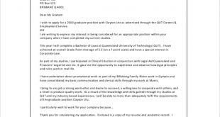 Cover Letter Template Qut