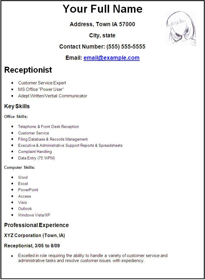 Create A Resume Format