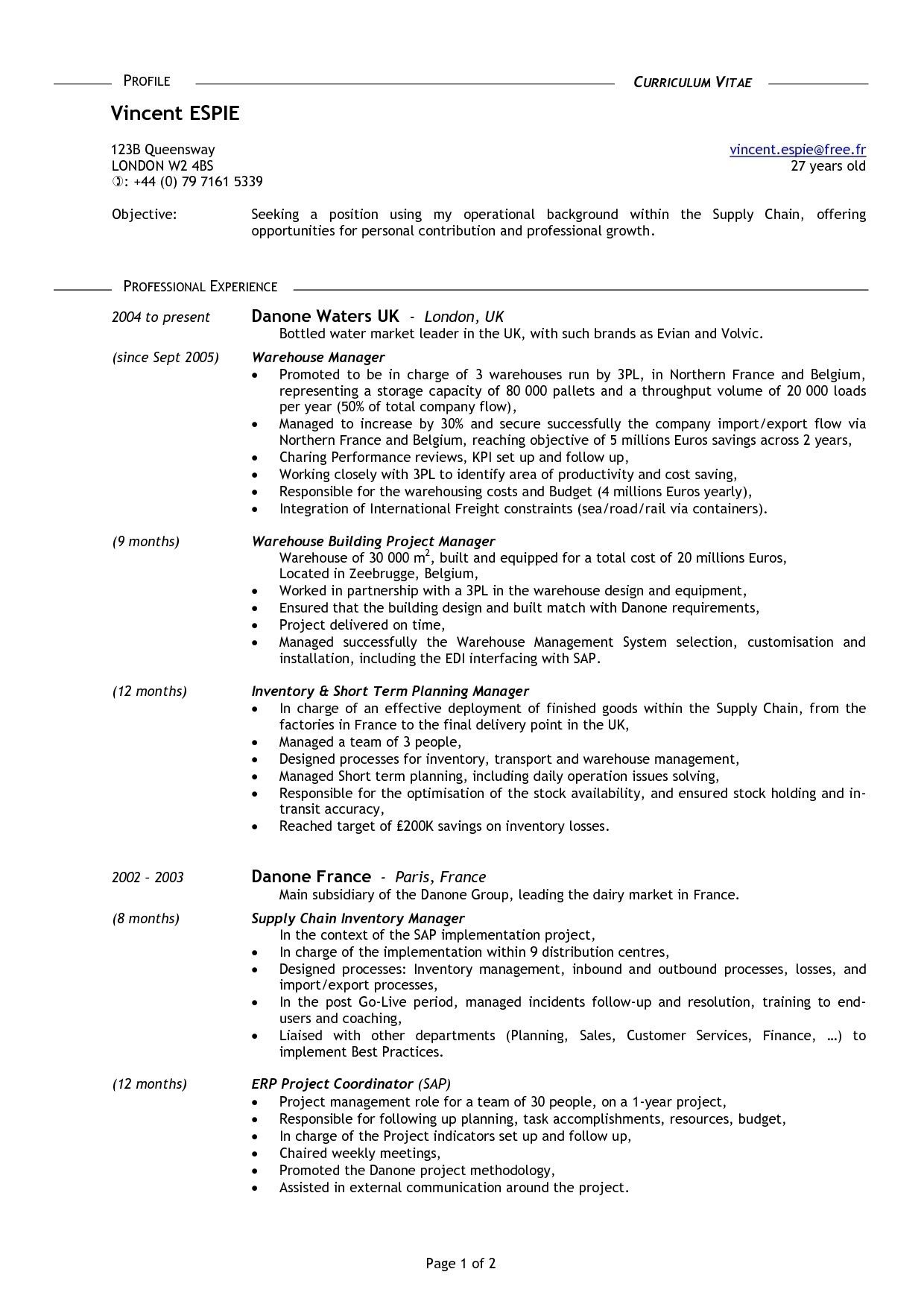 Cv Template 16 Year Old