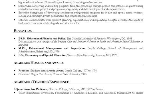 Cv Template For Professor
