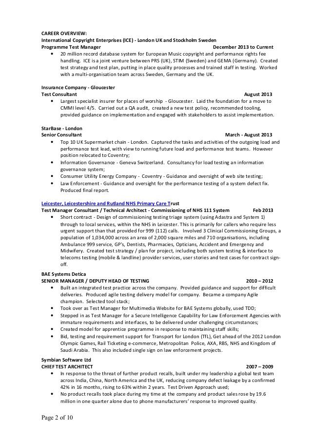 Resume Format Best Practices