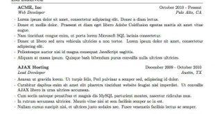 Resume Format Latex