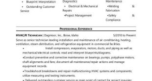 A C Technician Resume Format