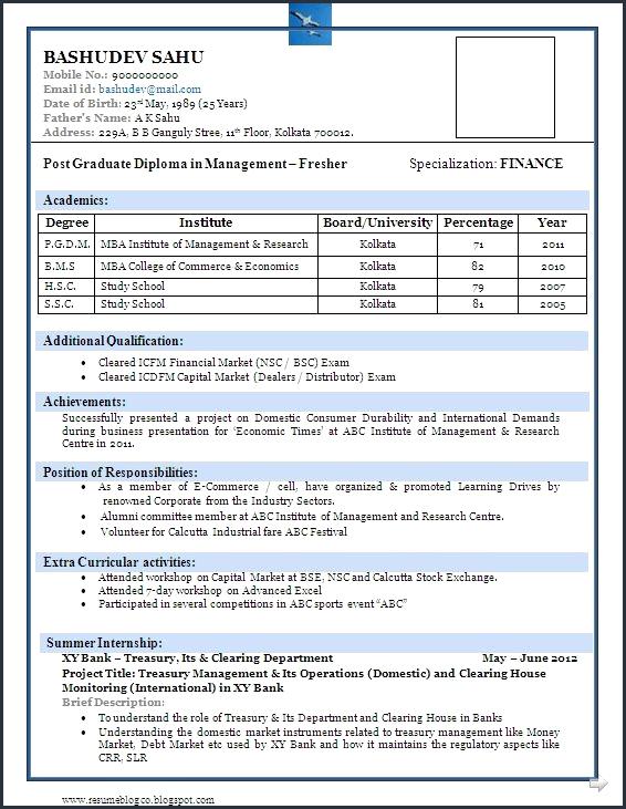 D Pharmacy Resume Format For Fresher