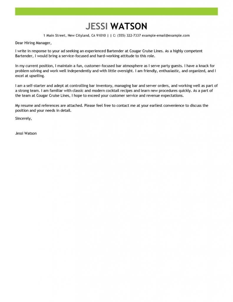 Youtube Cover Letter Template