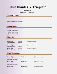 Cv Template For 40 Year Old