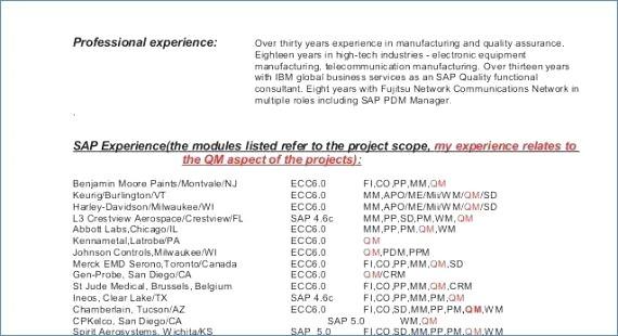 Telecom O M Resume Format