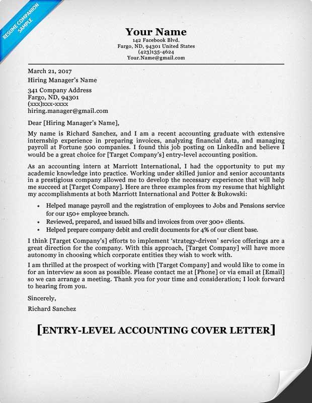 cover letter template linkedin