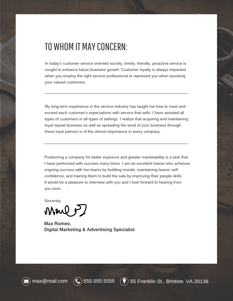 Cover Letter Template Template