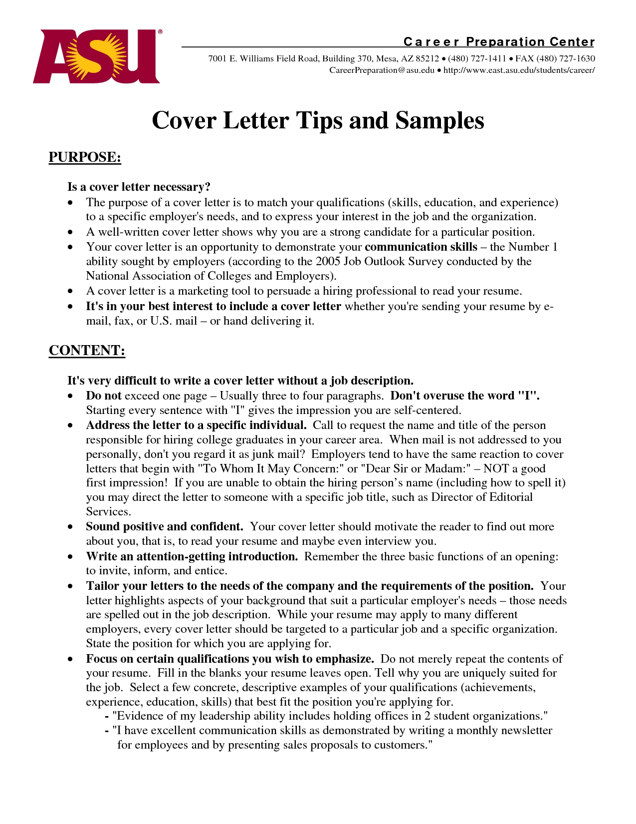 Cover Letter Template Drive