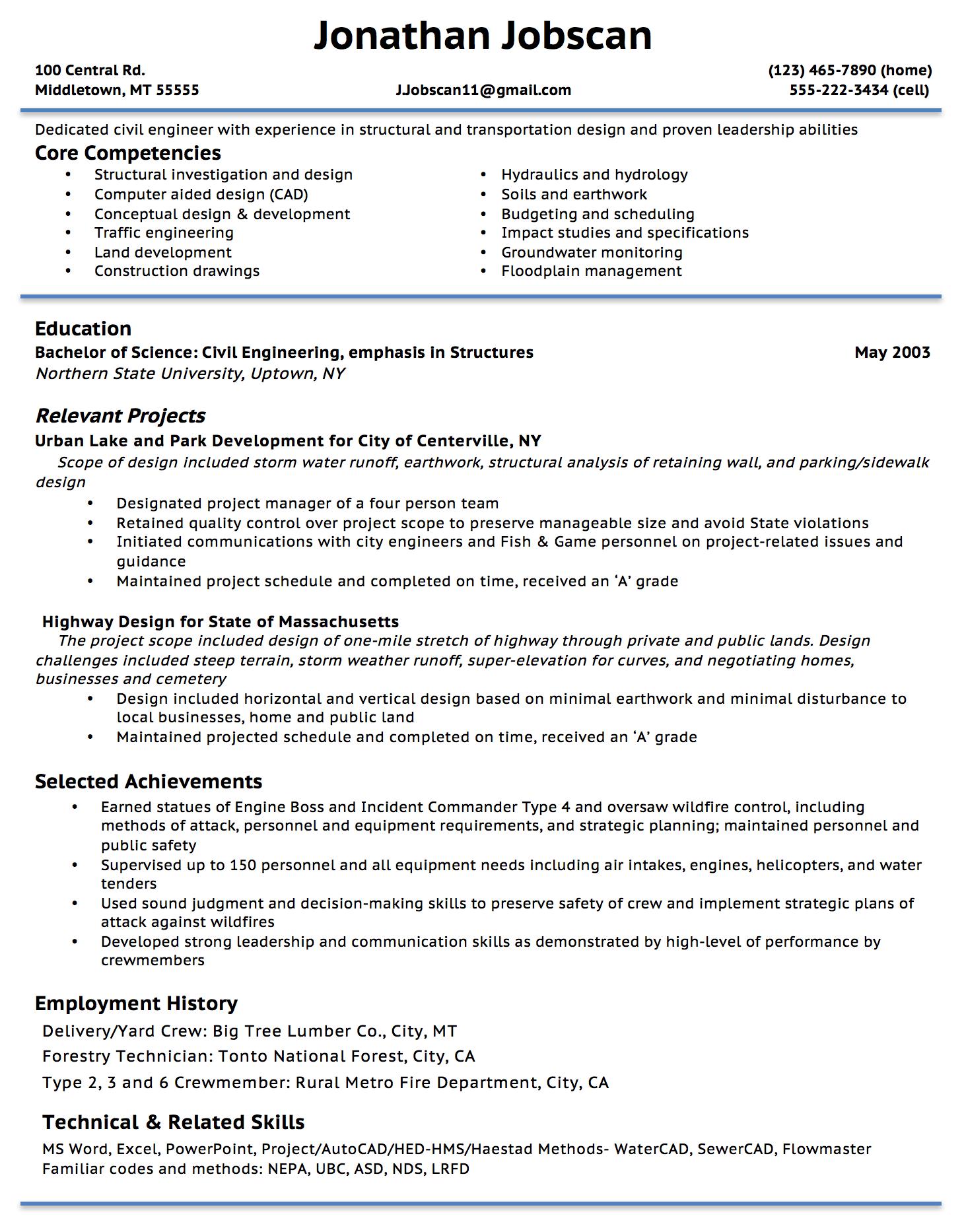 Resume Format Guide