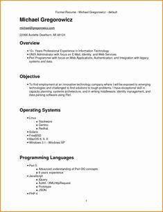 Resume Format Underline