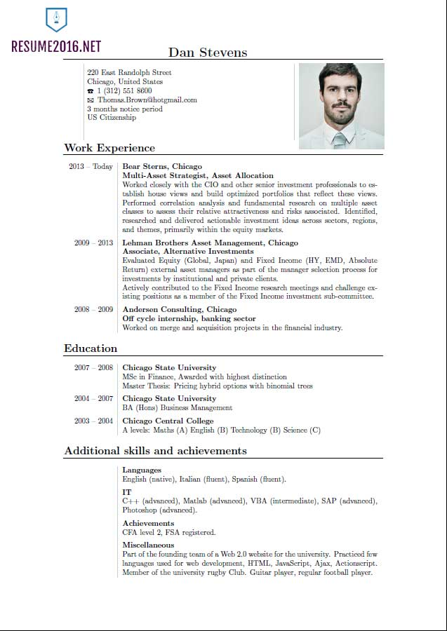 Resume Format Latest