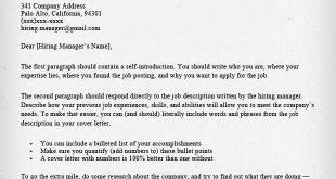 Cover Letter Template Harvard