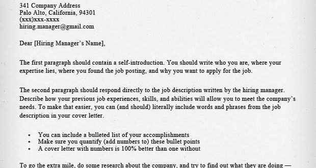 Cover Letter Template Harvard