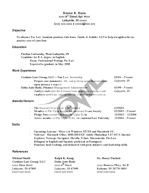 Resume Format Owl