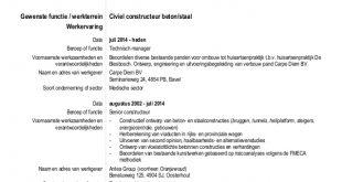 Cv Template Nederlands
